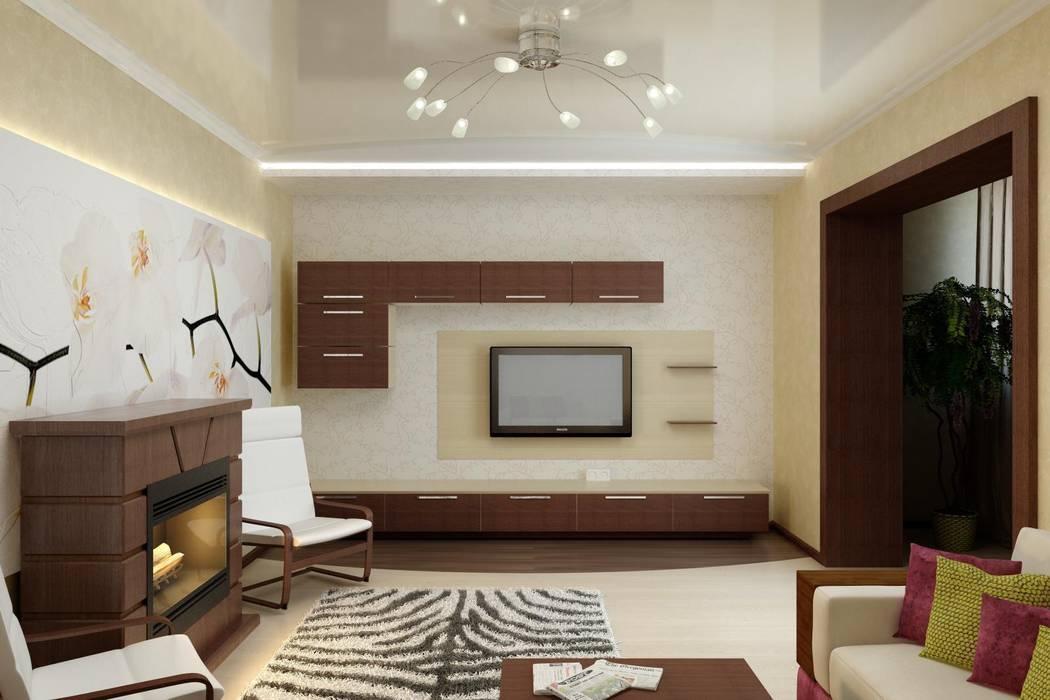Дизайн гостиной в современной классике.: Гостиная в . Автор – Цунёв_Дизайн. Студия интерьерных решений.