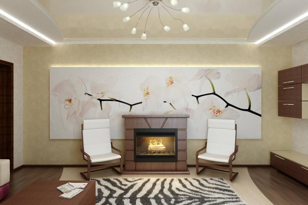 Дизайн гостиной в современной классике. Цунёв_Дизайн. Студия интерьерных решений. Гостиная в классическом стиле
