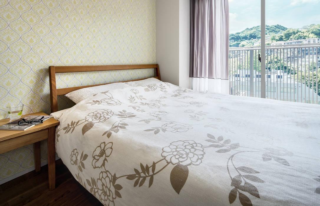 山本通の家 寝室: 株式会社seki.designが手掛けた寝室です。