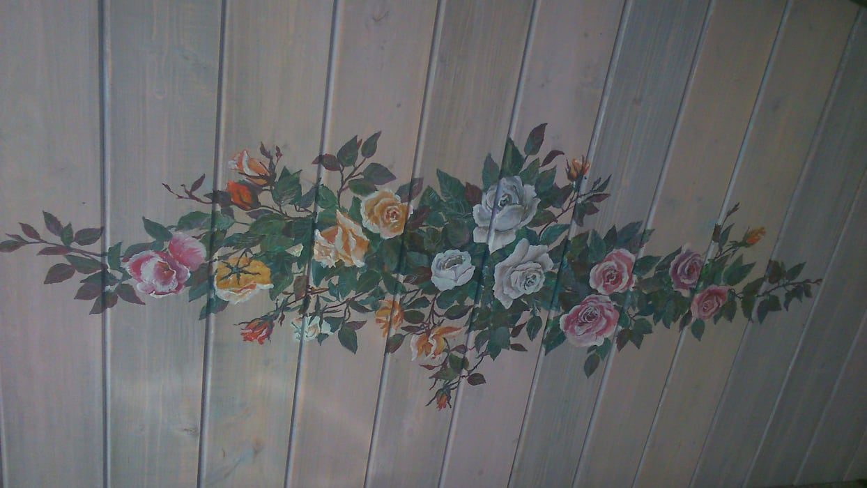 Потолок в кухне. Роспись по дереву. Кухня в стиле кантри от Наталья Дубовая Charman-design Кантри