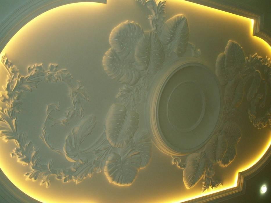 Лепной потолок в гостиной. : Гостиная в . Автор – Наталья Дубовая Charman-design