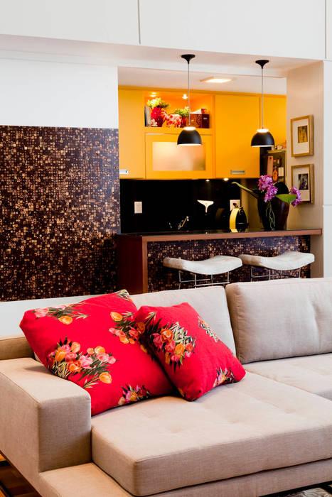 Apartamento Vila Nova Conceição Asenne Arquitetura Salas de estar modernas