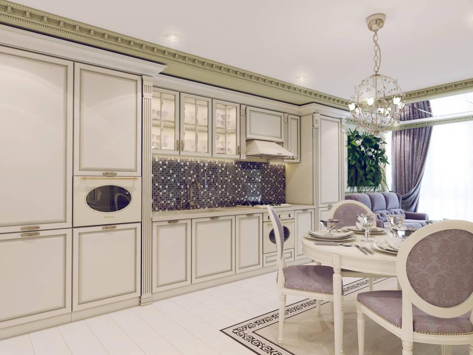 Атмосфера весны в однокомнатной квартире Кухня в классическом стиле от Volkovs studio Классический
