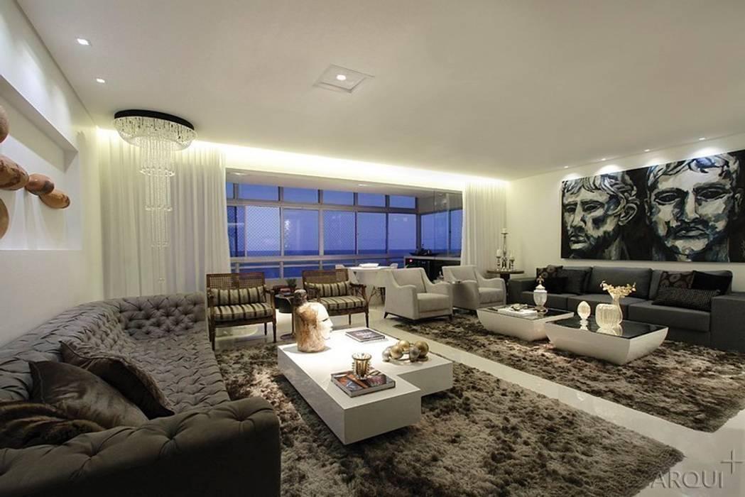 apartamento 290m² Salas de estar clássicas por Tony Jordão arquitetura e interiores Clássico