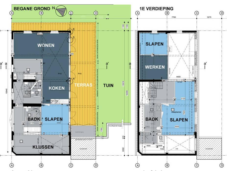 nieuwe plattegronden bg/1e van bijvoet architectuur & stadsontwerp