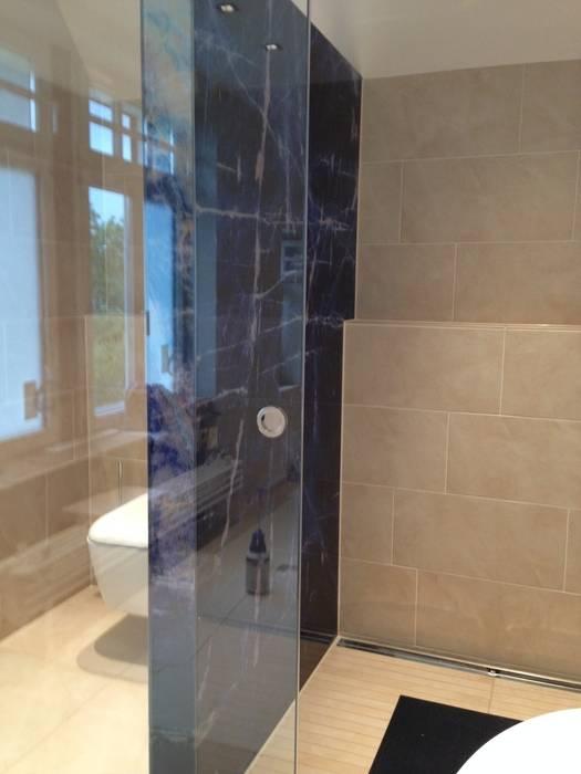 Led glas trennwand mit glasschiebetür: badezimmer von rw ...