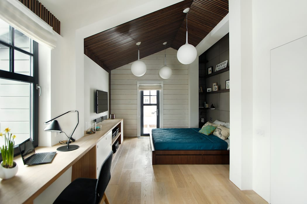 Спальная зона: Спальни в . Автор – ZE|Workroom studio