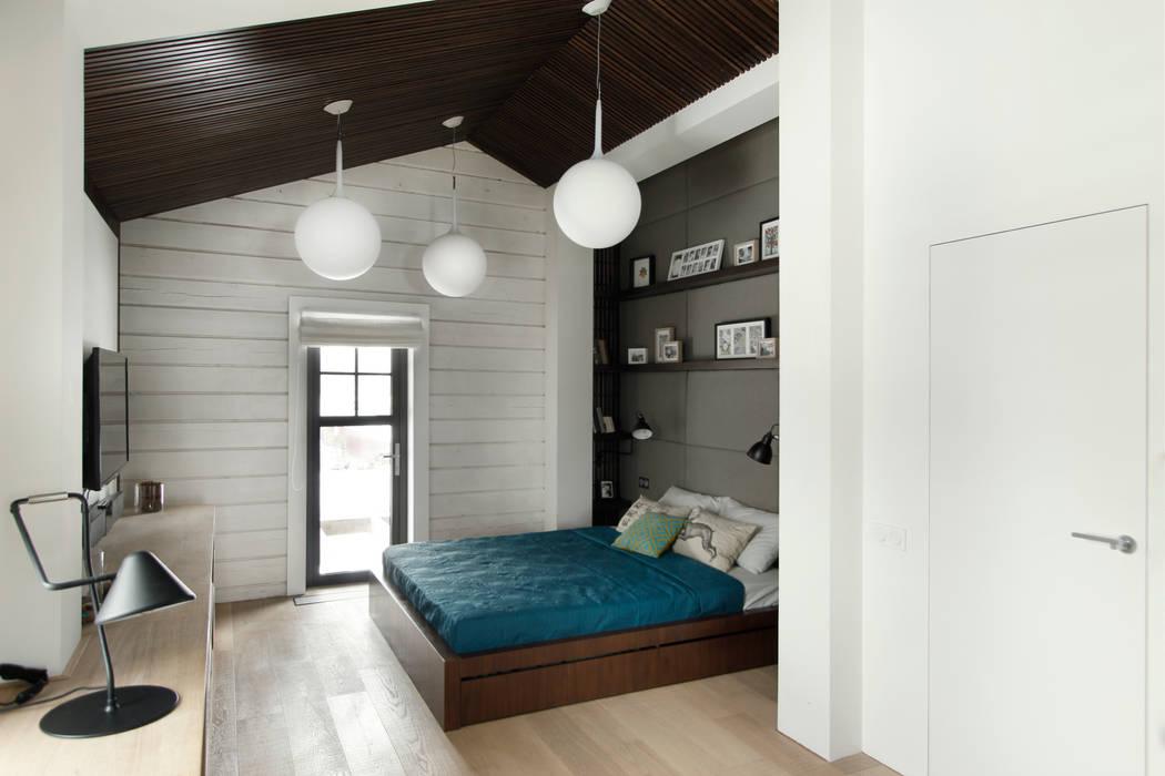 Спальная зона ZE|Workroom studio Спальня в скандинавском стиле