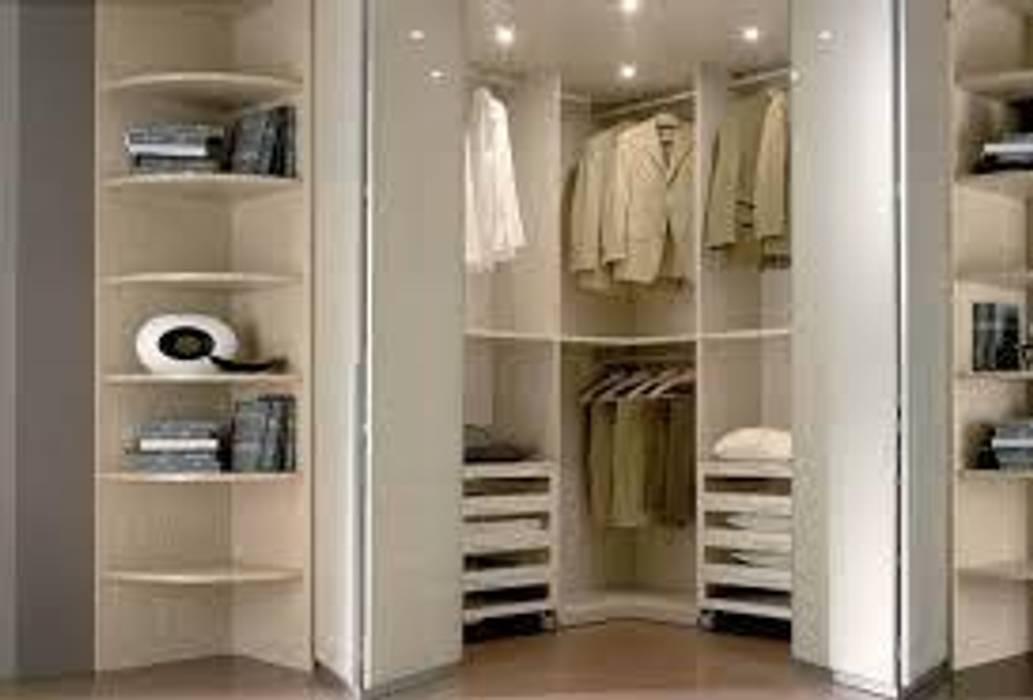 Cabina armadio ad angolo: camera da letto in stile di studio design ...