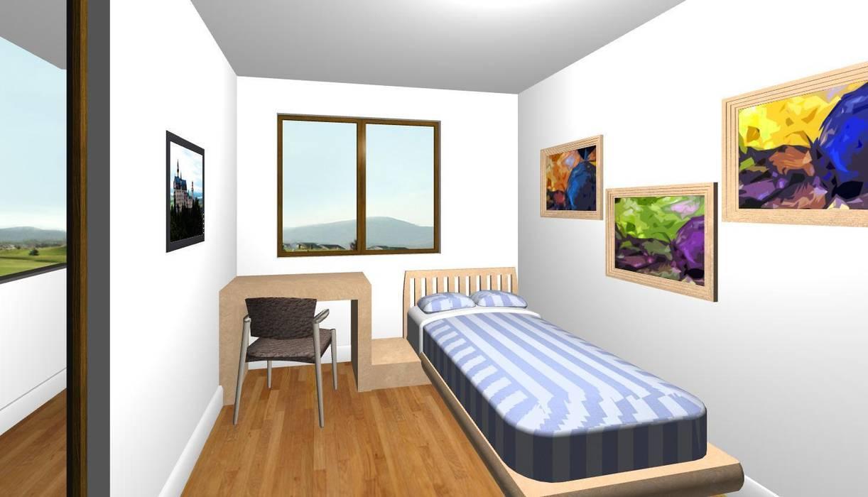 Cameretta con scrivania: camera da letto in stile di studio design d ...