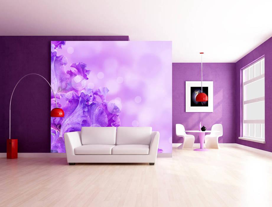 Fototapete Violet Summer Trendwände Moderne Wohnzimmer