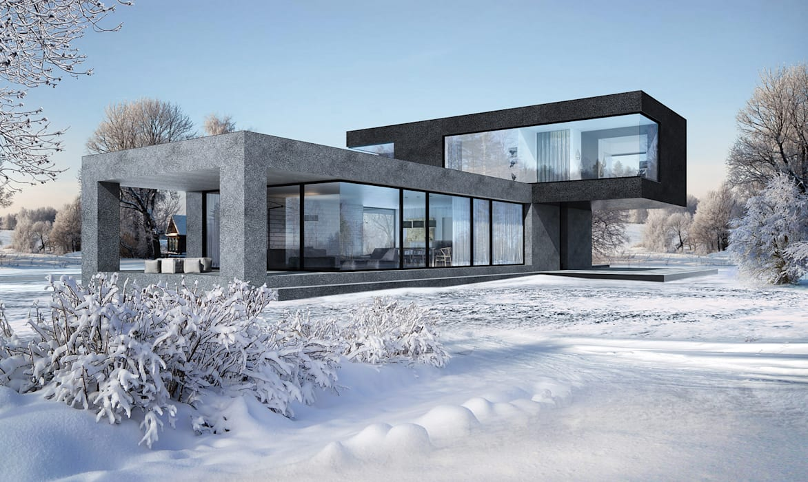 Hammer House: Дома в . Автор – ALEXANDER ZHIDKOV ARCHITECT, Минимализм