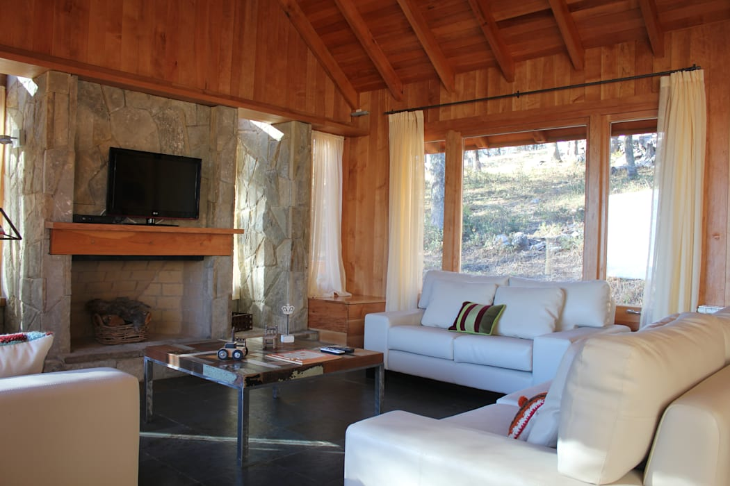 Aguirre Arquitectura Patagonica Living room