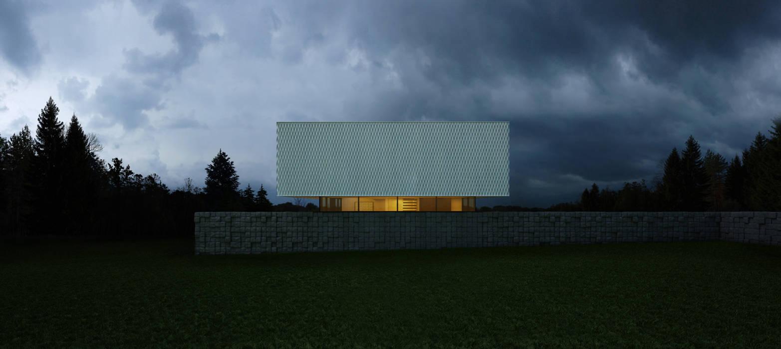 Black&White: Дома в . Автор – ALEXANDER ZHIDKOV ARCHITECT, Минимализм