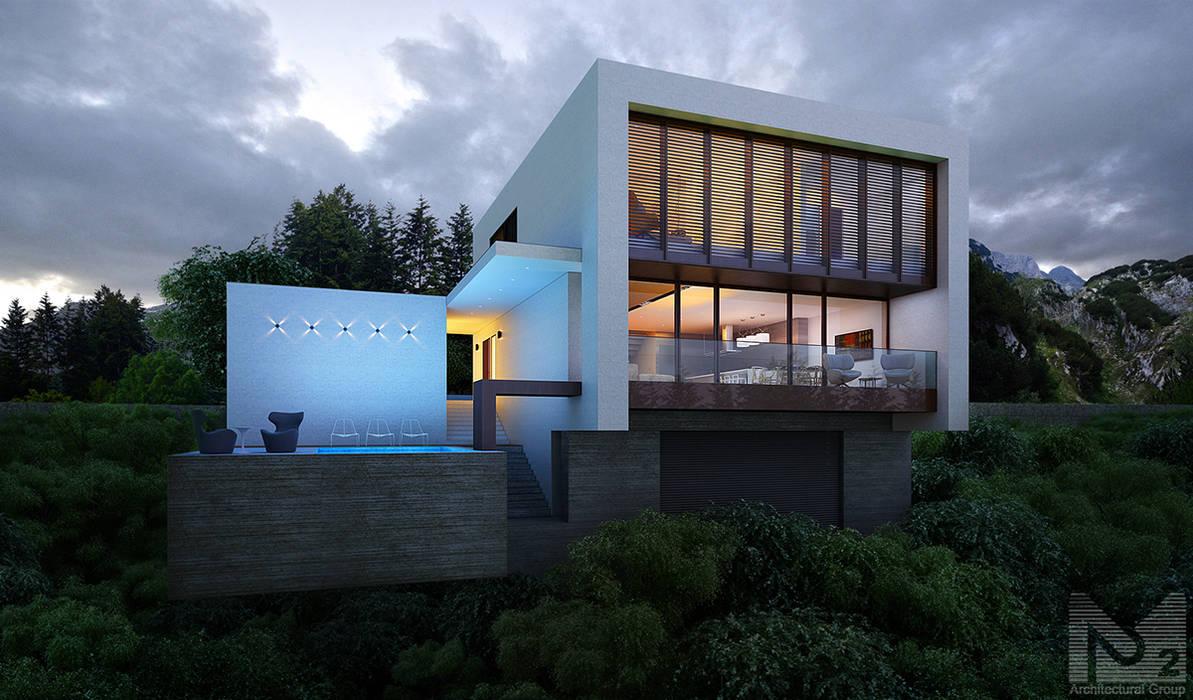 Дом в Ялте ALEXANDER ZHIDKOV ARCHITECT Дома в стиле минимализм