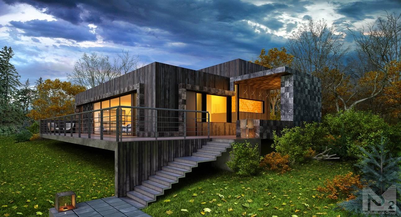 дом на склоне: Дома в . Автор – ALEXANDER ZHIDKOV ARCHITECT, Скандинавский