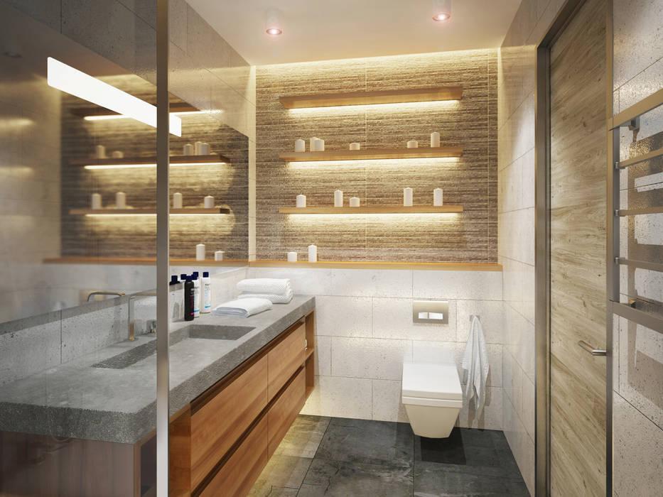 미니멀리스트 욕실 by Polovets design studio 미니멀