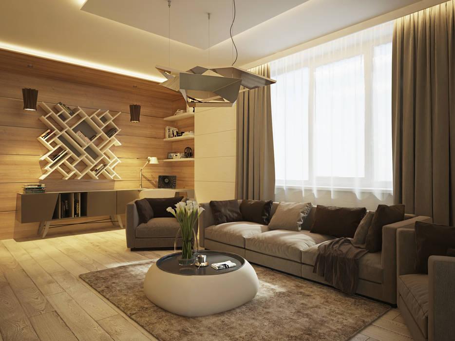 Minimalist Oturma Odası Polovets design studio Minimalist