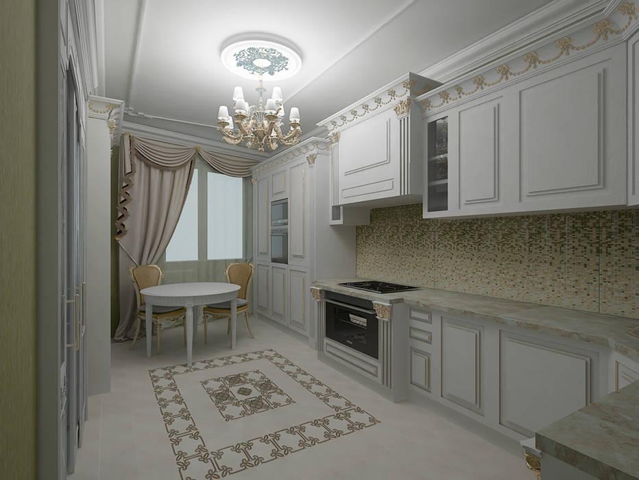 Кухня Кухня в классическом стиле от ООО ПрофЭксклюзив Студия дизайна интерьеров Классический