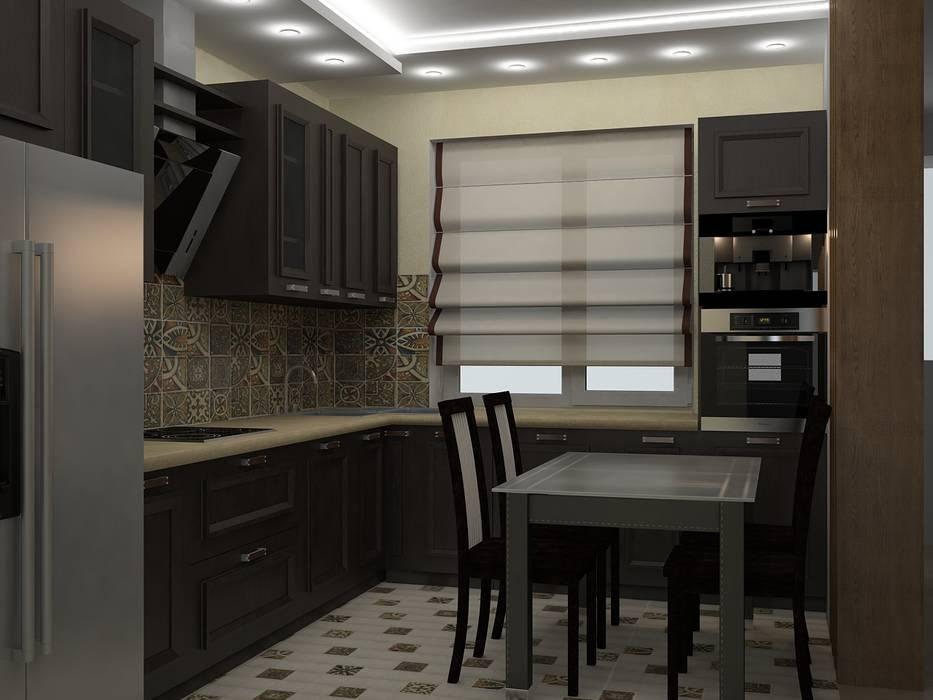 Кухни Кухни в эклектичном стиле от ООО ПрофЭксклюзив Студия дизайна интерьеров Эклектичный
