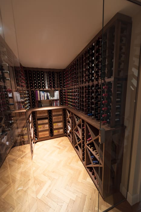 Wine Cellar in American black walnut designed and made by Tim Wood by Tim Wood Limited Класичний