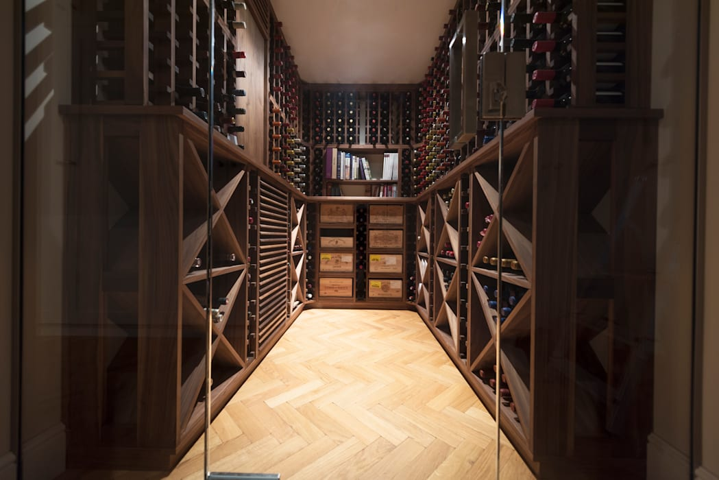 Wine Cellar in American black walnut designed and made by Tim Wood Scandinavian style wine cellar by Tim Wood Limited Scandinavian