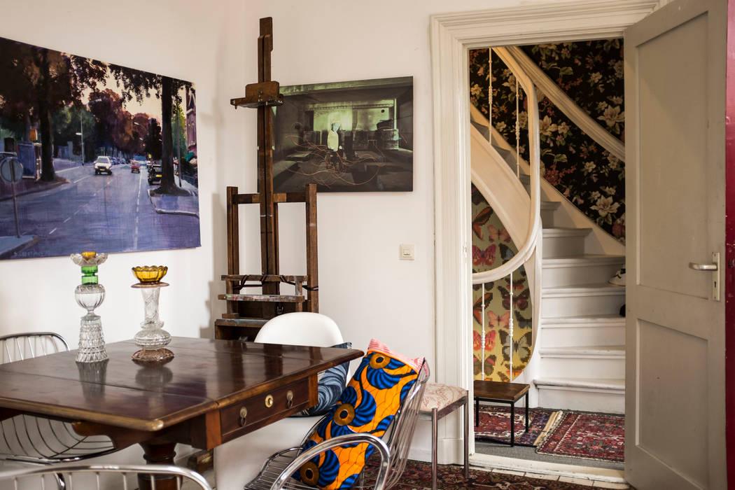 Interieur- en kleuradvies: eclectische studeerkamer/kantoor door ...