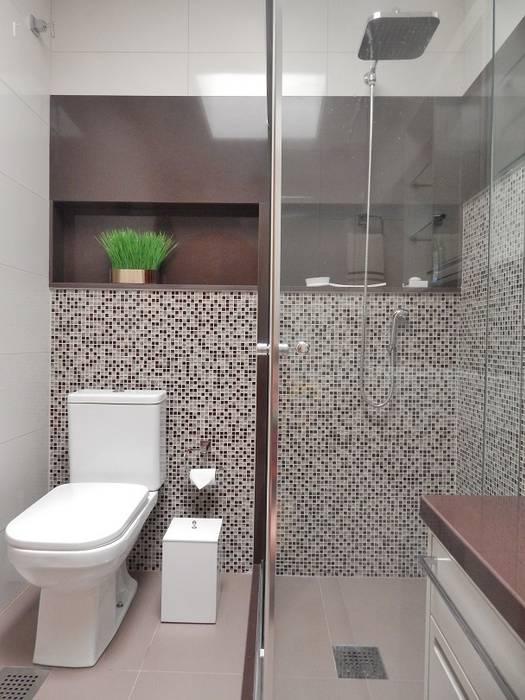 BANHO AB – Higienópolis / Porto Alegre Banheiros ecléticos por Ambientta Arquitetura Eclético