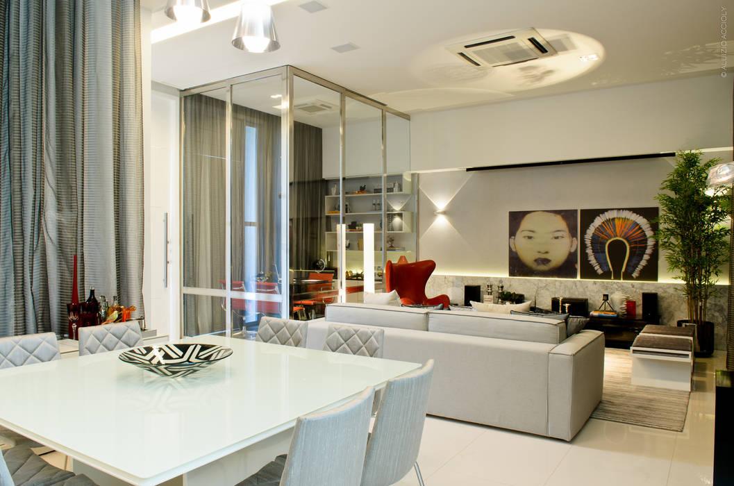 LIVING: Salas de estar  por criarprojetos | ARQUITETURA . INTERIORES . ENGENHARIA,Moderno