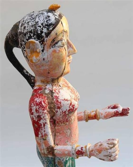 Vintage Carved Deity Vintage Archive Kunst Kunstobjekte