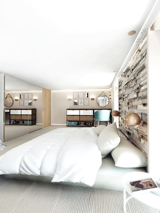 Bedroom by IK-architects, Industrial