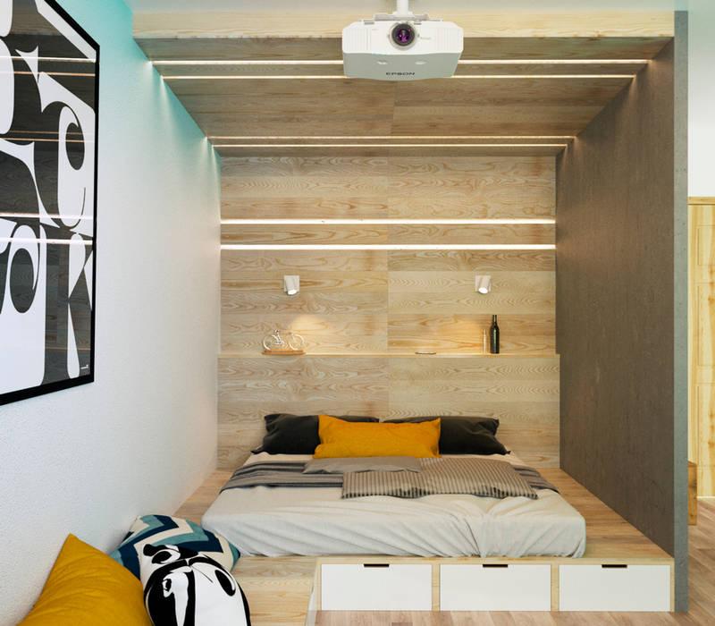 Dormitorios de estilo minimalista de IK-architects Minimalista