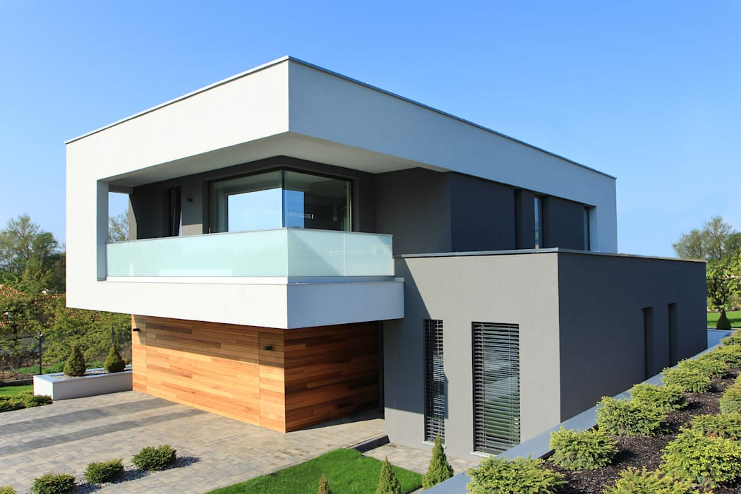 Maisons modernes par STRUKTURA Łukasz Lewandowski Moderne