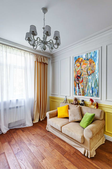 YOUSUPOVA Eclectic style living room