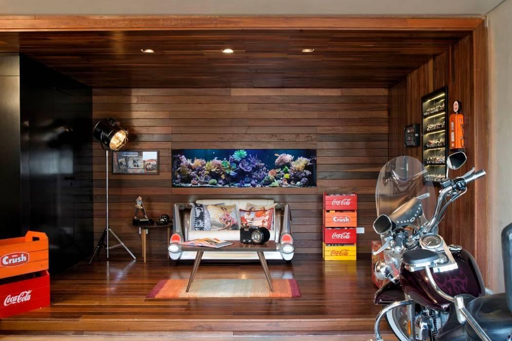 Projeto Casa Moderna - Jorge Elmor: Salas de estar  por Elmor Arquitetura,Moderno