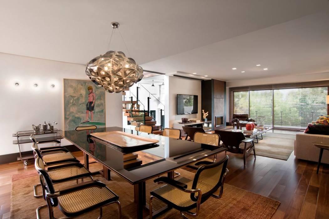 Projeto Casa Moderna - Jorge Elmor: Salas de jantar  por Elmor Arquitetura