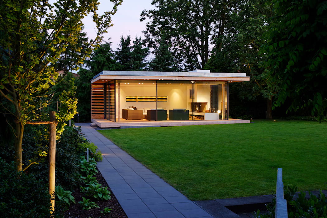 Moderner Gartenpavillion im nördlichen Ruhrgebiet Moderner Garten von homify Modern
