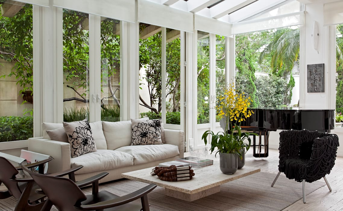 Jardin d'hiver moderne par CSDA Arquitetura e Interiores Moderne