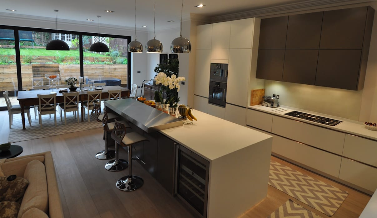 Credition Hill - Hampstead, London NW3 Hampstead Kitchens キッチンキャビネット&棚