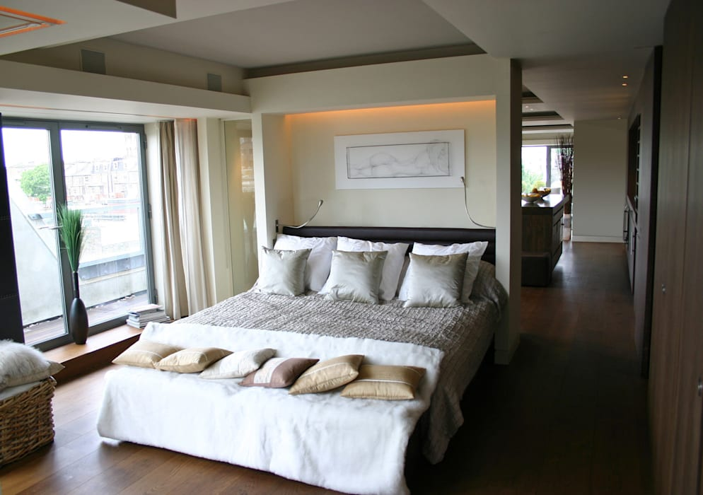 Notting Hill Apartment - 3 Jonathan Clark Architects Modern style bedroom