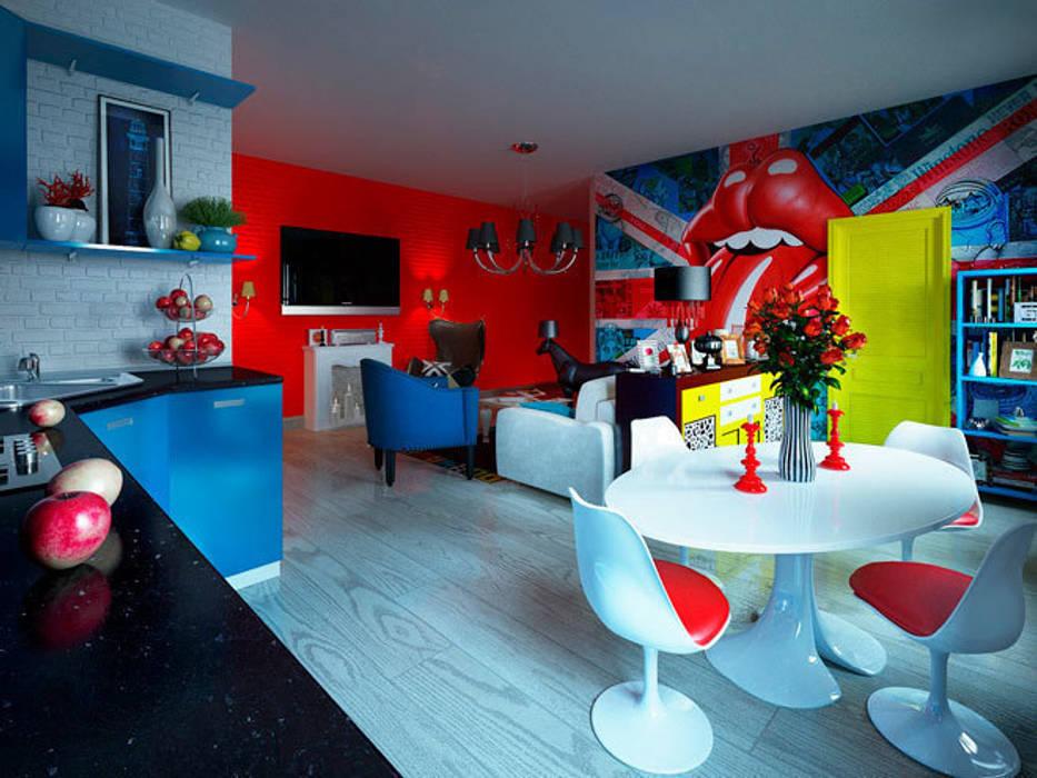 Гостиная в стиле поп-арт: Гостиная в . Автор – Студия дизайна интерьера Маши Марченко, Модерн