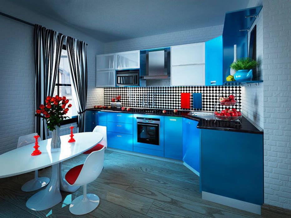 Кухня в стиле поп-арт: Кухни в . Автор – Студия дизайна интерьера Маши Марченко