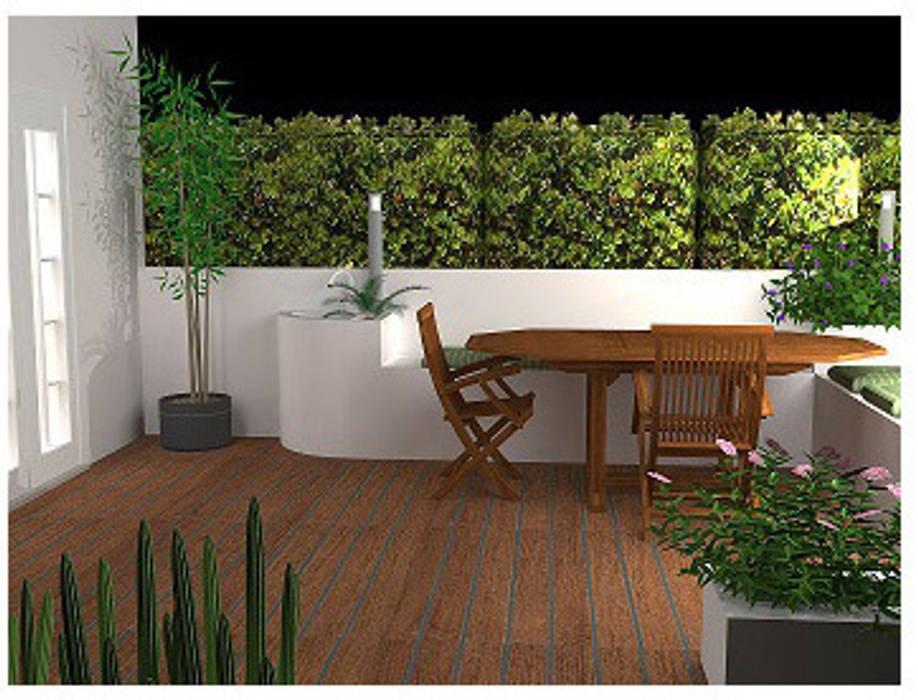 Casa Daniela e Claudio - Area esterna: Terrazza in stile  di Small in