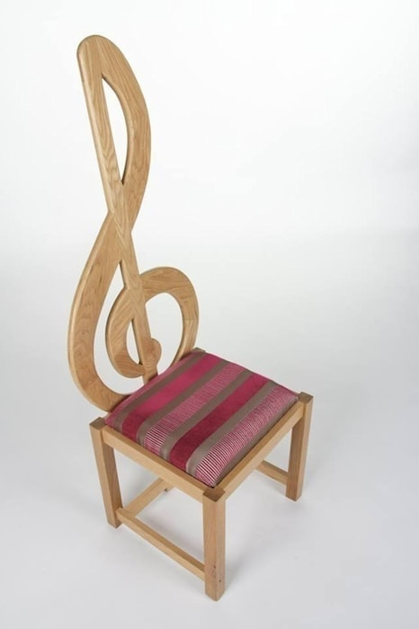 Treble Clef Chair Brocklehurst Furniture Multimedia roomFurniture