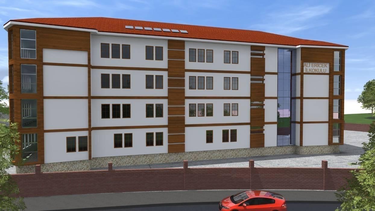 16 Derslikli Ortaöğretim Binası Modern Evler PORTAKAL MİMARLIK MÜHENDİSLİK İNŞAAT RÖLÖVE VE RESTORASYON Modern