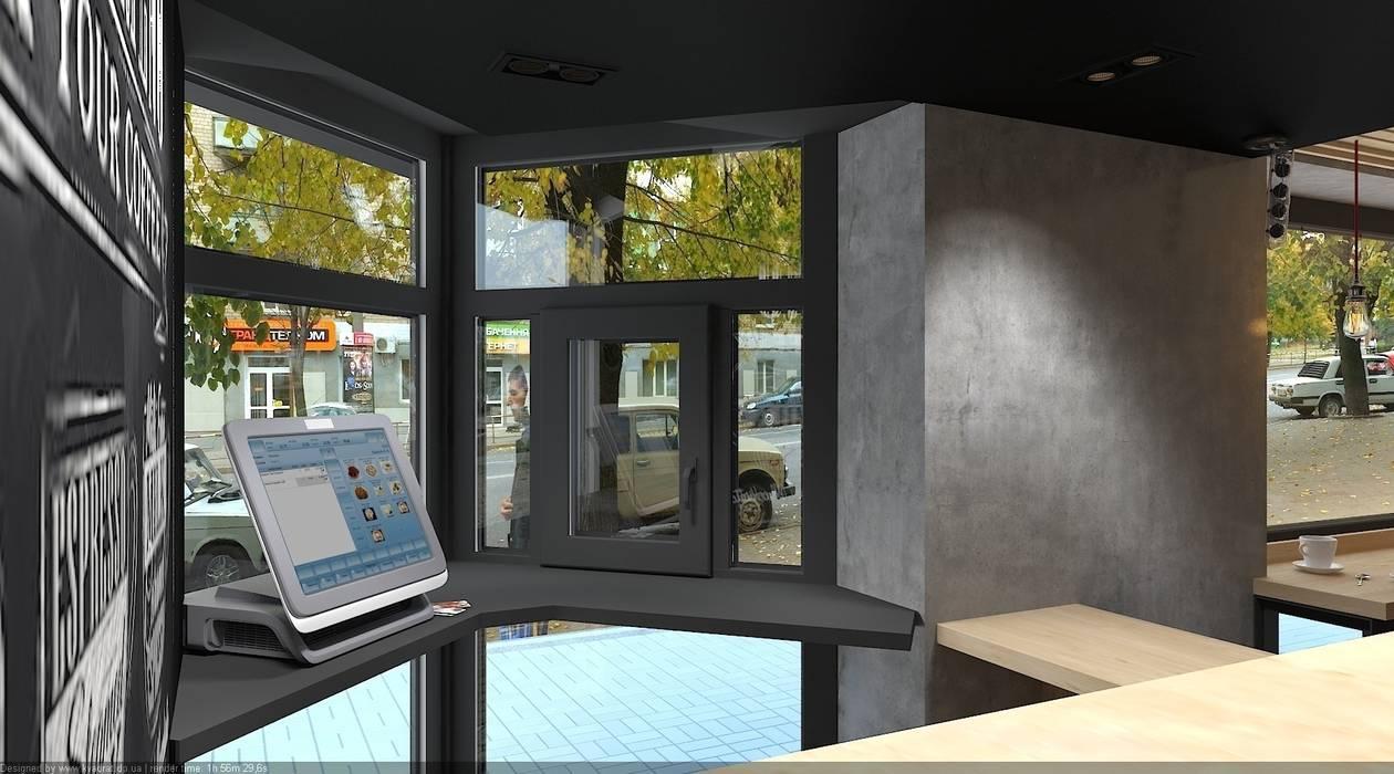 "Кафейня ""ЕДИСОН"" г. Кривой Рог от дизайн-студия 'КВАДРАТ' Лофт"