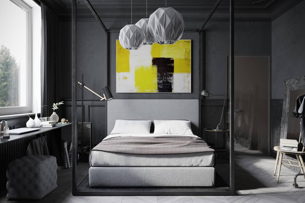 Kamar Tidur Gaya Industrial Oleh Denis Krasikov Industrial