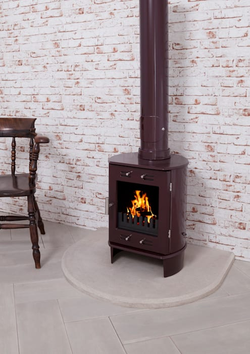 Dante Carron Enameled Stove 5kw UKAA | UK Architectural Antiques Living roomFireplaces & accessories