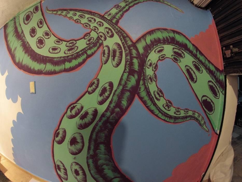 mural Gastronomía de estilo tropical de Armatoste studio Tropical