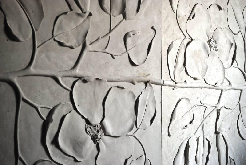 Painel Jardim: Espaços comerciais  por Iva Viana Atelier de Escultura